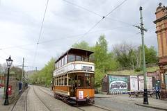 Standard car 22. Glasgow Corporation. Tramway Museum Crich. (Fred Collins afloat and ashore) Tags: tram tramway preservation brill 21e open balcony
