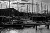 Zeeland (kalam_hagir) Tags: mast black white northsee ombre shadow netherlands boats