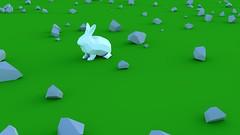 Connemara (algorev) Tags: lowpoly rabbit ireland connemara cute cuteness kawaii speedmodeling 4k dinosaur yee rock creativeshrimp blender youtube flickr too many tags yay