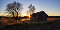 Shed by the river (Joni Mansikka) Tags: spring nature outdoor river riverside shed trees silhouettes sunset landscape light sky paimionjoki paimio suomi suomi100 finland finland100 2470mmf28exdg