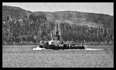 SD Impetus (Rollingstone1) Tags: sdimpetus tug boat sea gourock marine art bw scotland ship hills trees seascape mono monochrome artwork