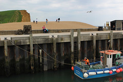 IMG_0104_flickr (Paul Russell99) Tags: westbay fishing fisherman cliffs broadchurch harbour pram pregnant family seagull