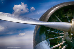 Aircraft Propeller (Photographybyjw) Tags: aircraft propeller this is attached beech twin engine ww2 bomber trainer found north carolina photographybyjw radial arm rural country clouds blue sky metal
