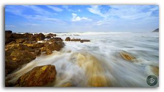Beautiful silky smooth water at Yarada Beach, Visakhapatnam