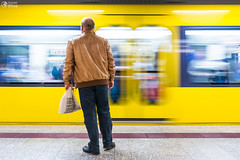 Yellow Blurred Motion Subway Waiting Commute Transportation Euro (HunterBliss) Tags: abstract background bahn blur blurred city commuter commuting engine fast germany high journey locomotive metro modern motion move movement new passage passenger people perspective platform public rail railroad railway rapid scene speed station stuttgart subway technology train transit transport transportation travel tube tunnel underground urban vehicle velocity waiting way yellow