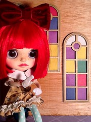Toy-in-the-Frame Thursday; and Blythe-a-Day#5: Puppet: Dasha Starts a Puppet Fight in Church