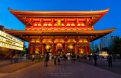 Sensoji temple or Asakusa temple and blur tourist movement with blue sky after sunset (boophuket) Tags: temple tokyo sensoji asakusa japan japanese shrine architecture gate asia travel buddhist asian night buddhism religion landmark kannon old shinto red sky senso city worship culture famous pagoda building blur