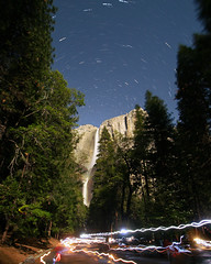 Hiking to See Rainbows at Night (Jeffrey Sullivan) Tags: yosemite falls moonbow lunar rainbow astrophotography astronomy national park valley sierra nevada usa nature landscape travel night photography canon photo copyright jeff sullivan may 2008 spring