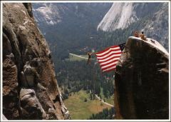 postcard - Yosemite 41 (Jassy-50) Tags: postcard yosemitenationalpark yosemite nationalpark park unescoworldheritagesite unescoworldheritage unesco worldheritagesite worldheritage whs mountain older flag
