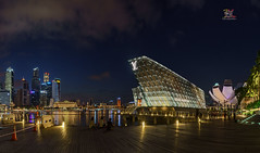 The Marina (Jose Hamra Images) Tags: marina marinabay lv scbd singapore night esplanade artmuseum city cityscape skyline