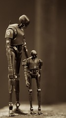 Father and Son (CJRC2) Tags: k2so starwars rogueone family blackwhite hasbro blackseries droid canon canonef70200mmf28lisusm canon5dmkiii thedarkside father children parent
