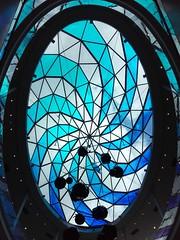 JOUR 117 : Plafond de verre bleu. (Anne-Christelle) Tags: projet365 365project bleu blue verre plafond architecture beaugrenelle 75015paris paris15 paris