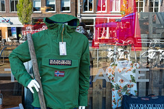 The Beheaded Man And Reflections (Alfred Grupstra) Tags: reflection sneek friesland nederland nl street people urbanscene store city cultures outdoors men retail citylife europe market editorial clothing