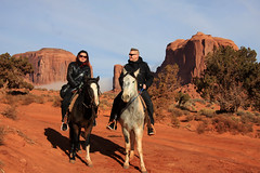 Horseback riding in Monument Valley, Arizona (sensaos) Tags: monumentvalley monument valley national park nature arizona usa travel sensaos 2014 united states america horseback riding animal horse