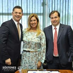 Dra.-Renata-Gil-presidente-da-AMAERJ-e-Rodrigo-Maia