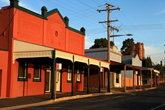 Forbes Street Verandahs (Darren Schiller) Tags: grenfell abandoned architecture australia building closed community derelict disused decaying deserted decay empty evening history heritage newsouthwales old smalltown shop store sunset rural rustic rusty