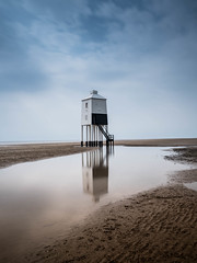 Burnham Lighthouse. (bhp1956) Tags: lighthouse beach landscape sand water sea burnhamonsea seascape reflection coast somerset clouds