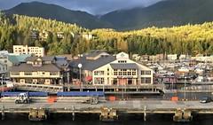 Ketchikan AK ~ magic hour in port (karma (Karen)) Tags: ketchikan alaska ports piers buildings magichour mountains fences fencefriday hff iphone topf25