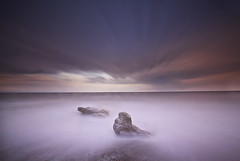 """ DOG ROCK (Wiffsmiff23) Tags: ogmore ogwr ogmorebysea ocean heritagecoastlinesouthwales sunset sunrise traeth beach longexposure dog dramatic drama"
