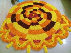 IMG_20160913_035815 (bhagwathi hariharan) Tags: onam pookalam flower rangoli kolam carpet floral nalasopara nallasopara virar aathapookalam tiruonam