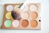 colorful makeup palette with brush (franchiseopportunitiesphotos) Tags: makeup cosmetics beauty palette brush blush bronzer highlighter eyeshadow