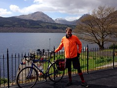 Posing by Loch Lomond (billyrosendale) Tags: doune lochlomond trossachs nationalpark cycling cycle bike biking bicycle bicycling scotland inversnaid lochdrunkie lochvenachar lakementrie lochard lochchon locharklet dukespass aberfoyle