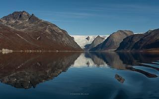 the Glaciar at Tasermiut Fjord