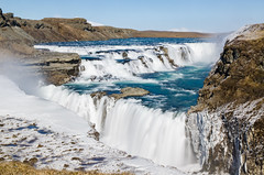 Gullfoss, the double jump (rafpas82) Tags: islandia water sun easter easter2017 iceland waterfall waterfalls blue cascata cascada rocks nd nikond7000 1770sigmacontemporary nikon 1770sigma 1770