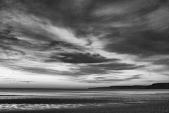 made it (#christopher#) Tags: beach sky clouds water ocean cliffs coastline shore seaside landscape seascape blackandwhite