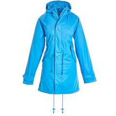 BMS - HafenCity SoftSkin rain coat light blue (ShinyNylonFan) Tags: rainjacket raincoat waterproofed bmshafencity bms rubber