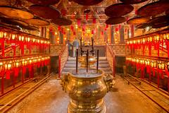 INSIDE THE MAN MO TEMPLE (::: a j z p h o t o g r a p h y :::) Tags: buddhism buddhist interior incense pray prayer sheungwan hongkong temple red travel traveldestination