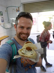 Falafel en hummus in Haifa