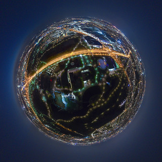 (360 planet) Night Munich from above 4