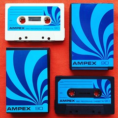 1972 Ampex 90 Minute Cassettes (Christian Montone) Tags: ampex graphics 1970s 70s seventies cassette tapes tape cassettes swirl blanktape montone christianmontone