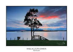 Mallacoota Dawn (sugarbellaleah) Tags: water dawn cool clouds sunrise mallacootavic australia outdoors recreation fishing boating leisure holiday vacation getaway travel nature unspoilt idyllic pretty stillness serene calm mallacootainlet colourful tourism victoria eastgippsland jetty silhouette fun relaxation lakescoast coastal