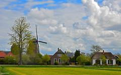 Holland Landcape Cloudscape (JaapCom) Tags: jaapcom landscape landed landschaft mill moulin molen molino farmhouse clouds cloudscape wolken zalk holland dutchnetherlands paysbas