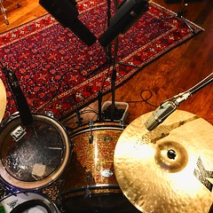 Hit 'Record' (Pennan_Brae) Tags: instrument microphones drummer drumming drum drumset drumkit cymbal musicphotography recordingstudios musicstudios recordingsession musicstudio recordingstudio music recording record microphone cymbals drums