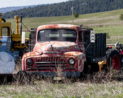 Happy Truck Thursday. (Brendinni) Tags: happytruckthursday washingtonstate washingtonexplored eawa easternwashington truck tractor abandoned rusty rustic grass green spring