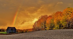 Calm after the storm (RWGrennan) Tags: sunset rainbow stom clouds nature fall foliage color trees farm landscape scene scenic wow barn rensselaer county poestenkill oz light newyork ny upstate 518 capitalregion nikon d610 rwgrennan rgrennan ryan grennan amazing field sky rural