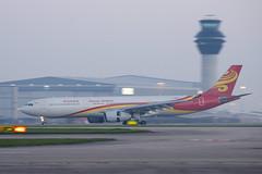 Pre sunrise arrival. (SD Images) Tags: b8016 hainanairlines manchesterairport man manegcc egcc airbusa330 airbus