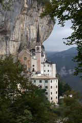 Madonna della Corona (www.holgersbilderwelt.de) Tags: italia lagodigarda veneto adige madonnadellacorona beautiful sky travel landscape tree summer clouds architecture art italy forest building mountain garden europe plant way top botany flora shadow amazing classic kunst weather scenic castle tranquility historic season culture calm countryside rural traditional public summit peace sculpture stairs perspective tradition emotion attractive feeling rustic figure alley lakegarda valley church fine