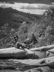 shannan and cliff - gibraltar falls - 0042 (liam.jon_d) Tags: 8 act mono arty australia australian australiancapitalterritory bw billdoyle blackandwhite commonwealth greatdivide greatdividingrange highcountry hike hiking monochrome mother motherson mountain mountainrange namadgi namadginationalpark nationalpark pair pairing park peopleimset portrait portraitimset ramblig reserve snowymountains son sonmother track trail walking