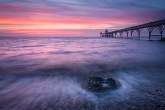 Surprise Sunset (Stu Meech) Tags: clevedon pier somerset sunset sea colour waves nikon d750 1635 leefilters stu meech