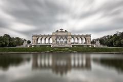 The Gloriette (pixadeleon) Tags: water old architecture building green vienna wien austria schloss österreich gloriette chateau schönbrunn clouds