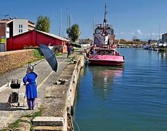 Painters at work (RenzoCiurluini) Tags: painter painters fiumicino rome italy italia roma pittori fiume river work