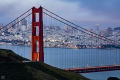Golden Gate Bridge 2017 (lycheng99) Tags: goldengatebridge sfbayarea sf sfskyline sanfrancisco sanfranciscobayarea sanfranciscotravel sanfranciscobridges sanfranciscoskyline bridges dusk lights fog downtown longexposure bay bayarea sky color