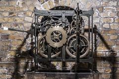 The clock workings - Landguard fort (Rob A Dickinson) Tags: nikon d7100 sigma2470f28 landguard point felixstowe suffolk coast sea fort fortification clock cogs time englishheritage