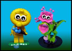 Like Peas in a Pod (Karf Oohlu) Tags: lego moc figure modifiedminifig minifig dinosaur cute