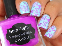PLATE BP-74 + PURPLE STAMPING POLISH - BORN PRETTY STORE (Lily's Nail) Tags: bornprettystore nailart unhasdecoradas nail