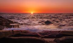 summer longings (cherryspicks (on/off)) Tags: sunset adriatic mediterranean water sea beach croatia sun waves motion rocks summer